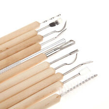 11pcs Clay Sculpting Set Wax Carving Pottery Tools Shapers Polymer Modeling #waf