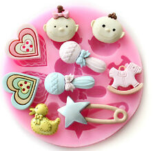Baby Shower Decorating Silicone Sugar Craft DIY Mold Gum Paste Cake Fondant Mold