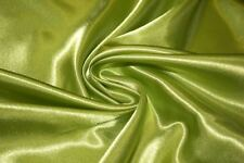 """Lime Satin Charmeuse Apparel Fabric Dress Weight 56""""-58"""" BTY 100% Polyester"""