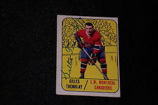 GILLES TREMBLAY 1967-68 TOPPS SIGNED AUTOGRAPHED CARD #5 CANADIENS
