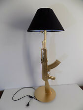 New Creative AK47 Gun Table Lamp Desk Lighting Lamp Working Light Silver Gold