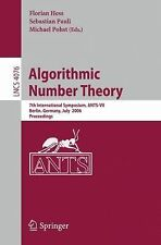 Lecture Notes in Computer Science: Algorithmic Number Theory : 7th...