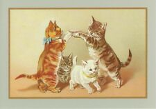 Cats Playing Playground Games Thank You / Congratulations / Good Luck Card
