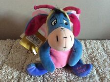 "Bnwt Disney Store Mini Bean Bag Butterfly Eeyore 8""  Soft Toy  Plush Easter 2000"