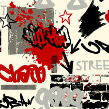 Graffiti Red and Black & Grey Wallpaper 6392 :) x
