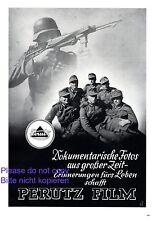 Perutz Film XL Reklame 1941 Soldaten WW WK 2 Wehrmacht Fotopapier Deutschland