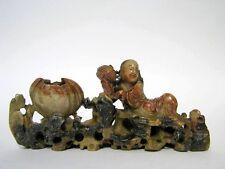 Sehr fein geschnitzte Chinesische Speckstein Skulptur Figur um 1930