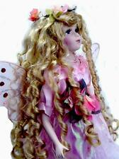 PORCELAIN FAIRY DOLL PINK  DRESS  18' H LIMITED EDITION