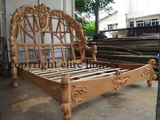 Super King RAW UNPAINTED Designer luxury Chatelet® Bed mahogany wood not rococo