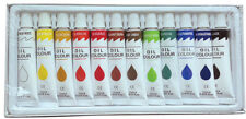 12 PC OIL PAINT SET Professional Artist Paints Painting Pigment 12ml Tubes
