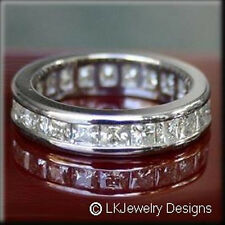 6.30 CT MOISSANITE SQUARE FOREVER BRILLIANT ETERNITY CHANNEL BAND RING