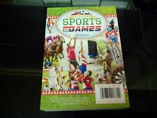CRAFT CLEAR OUT HUNKYDORY LITTLE BOOK OF SPORTS AND GAMES 144 PAGES NEW