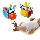 1 PC Animal Baby Soft Plush Stuffed Hand Bell Wrist Rattle Educational Toys Kid