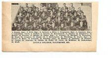Loyola University of Maryland Greyhounds Baltimore 1928 Football Team Picture