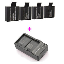 Charger For SJ4000 SJ5000 SJ6000 Action Sport Camera + 4 PCS 3.7V 900mAh Battery
