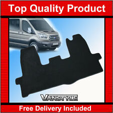 NEW FORD TRANSIT MK8 LUXURY THICKER CARPET MATS BLACK TAILORED FRONT MAT 2014 On