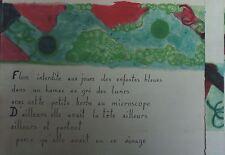 """""""MAQUETTE POUR POESIE ILLUSTREE"""" Aquarelle sur papier"""