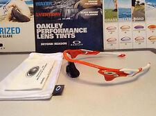 Oakley Radarlock Blood Orange w White Oakley Icons - Regular Fit  SKU# 9181-08