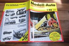 MODELL-AUTO 1/1982 -- DDR: WARTBURG Modelle / Piccolo-Serie v. Schuco / FUHRHOF