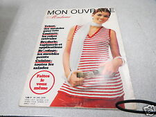 MON OUVRAGE MADAME N° 249 JUIN TRICOT COUTURE LES ROBES ESTIVALES BRODERIE *