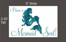 I have a Mermaid Soul car vinyl decal great stocking stuffer bumper sticker NEW