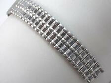 """Topps Stainless Steel 16mm 5/8"""" Watch Band Vintage Scissor Expansion Mens"""