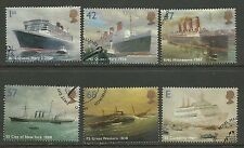 GB 2004 QE2 Ocean Liners Used set of 6 stamps ex Fdc ( C230 )