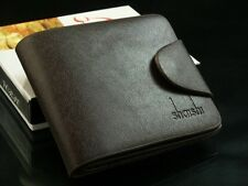 COOL Mens Leather Wallet Pocket Card Clutch Bifold Purse Soft Black wallet