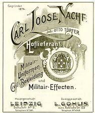 Carl loose/Otto töpfer Leipzig militair-uniformes historiques publicitaires de 1906