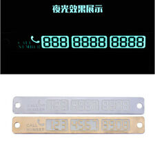 New Car Styling Luminous Temporary Parking Card Phone Number Card Plate