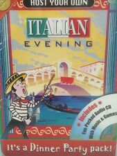 Host Your Own Italian Evening Dinner Party In A Box With Games Music CD Travel