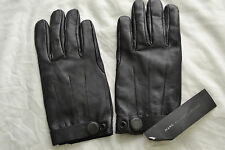Marc By Marc Jacobs Men's Leather Gloves Ink Blue Size S Brand new