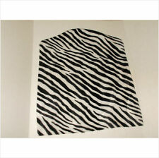 BLK/ White Stretch  Chair slip Cover FOR SLIM CHAIRS Decor ZEBRA PRINT FUR FEEL