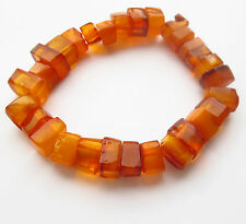 Vintage Baltic Amber Stretch Bracelet  approx. 7.5 ""