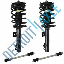 New 4pc Kit 2 New Rear Ready Strut Assembly + 2 Stabilizer Bar Link Taurus/Sable