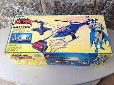 1989 official DC COMICS BATMAN BATCOPTER BAT COPTER#R/C blue box NRFB rare
