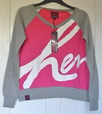 New Henleys  sweat pink/grey size 14