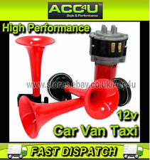 12v Car Van Taxi 600Hz 765Hz 810Hz 3 Pipe Loud Music Sound Air Horn Kit