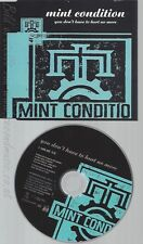 CD--MINT CONDITION--YOU DON'T HAVE TO HURT NO MORE--PROMO