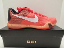 NIKE KOBE X MAJORS 705317 616 Red Bright Crimson sneaker shoe men size 11