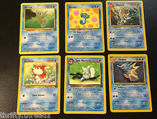 6 Pokemon Horsea Fin Slap Smokescreen, Omastar, Goldeen, Dark Wartortle, Seadra