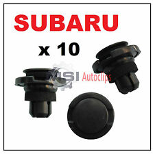 10 x SUBARU Push Type Rocker Moulding Trim Clips Side Skirt Sill Cover Fasteners