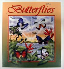 PALAU BUTTERFLY STAMPS SHEET ISSUED 2000 BUTTERFLIES INSECT MOTH PALMFLY #598