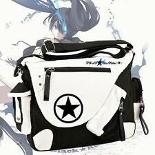 BLACK ROCK SHOOTER Backpack Schoolbag Messenger Bag Unisex Canvas Anime Gift