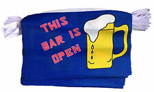 THIS BAR IS OPEN BUNTING 9 metres 30 flags flag BARBECUE PUB PUBS AND CLUBS