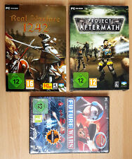 NEU - 3 PC-Spiele USK 12: Project Aftermath, Real Warface 1242, Future Wars