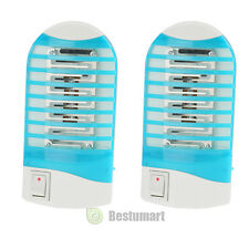 2X Electric Mosquito control Fly Bug Insect Trap LED Night Lamp Killer Zapper #1