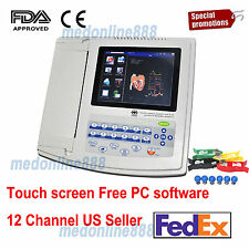 US Digital 12-channel/lead Electrocardiograph ECG/EKG Machine interpretation FDA