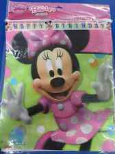 RARE Minnie Mouse Bow-tique Disney Birthday Party Decoration Plastic Banner