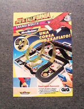 I247-Advertising Pubblicità-1990- MICRO MACHINES SUPER PISTA CALIFORNIA , GIG